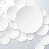 Paper Circles Background Royalty Free Stock Photography