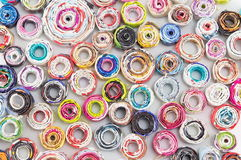 Paper circles colorful handmade background Stock Photos