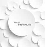 Paper circles with drop shadows. Paper circle banner with drop shadows. Vector illustration Stock Images