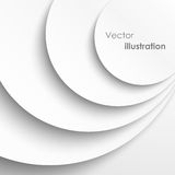 Paper circles with drop shadows background. Vector illustration stock illustration