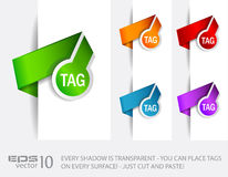 Paper Circular Style tags Stock Photography