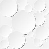 Paper cirkelbaner med droppskuggor Plan designe också vektor för coreldrawillustration Royaltyfri Fotografi