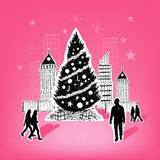 Paper City Christmas Royalty Free Stock Photography
