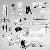 Paper City Vector royalty free illustration