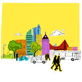 Paper City Vector Royalty Free Stock Photos