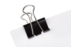 Paper and clip Royalty Free Stock Image