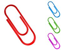 Paper clip. Colored illustration of paper clip Stock Image