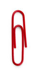 Paper clip. Red paper clip isolated on white stock photos