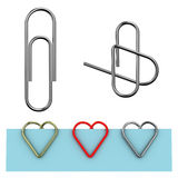Paper clip Royalty Free Stock Photos