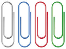 Paper clip. Vector paper clip isolated over white background Royalty Free Stock Photo