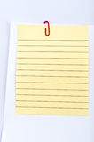 Paper with clip Royalty Free Stock Images