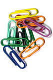 Paper Clip. S on white background stock photos