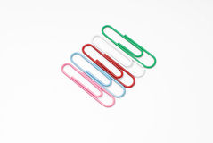 Paper-clip. Isolated on white background with clipping path Royalty Free Stock Image