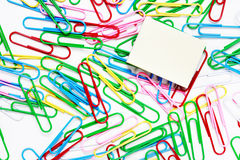Paper-clip background Royalty Free Stock Photos