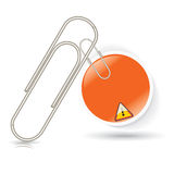 Paper clip with bubble business stick Royalty Free Stock Image