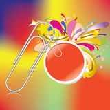 Paper clip with bubble business stick Royalty Free Stock Images