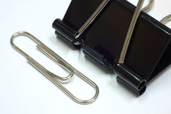 Paper clip and clamp Royalty Free Stock Image