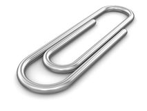 Paper clip (clipping path included) Royalty Free Stock Photo