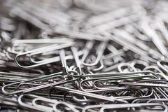 Paper clip Dept of field. Closeup royalty free stock photos