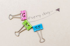 paper clip happy Royalty Free Stock Image