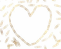 Paper clip heart Royalty Free Stock Images