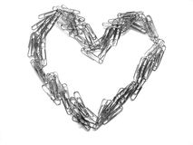 Paper Clip Heart Symbolizing Love of Business Stock Images