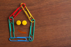The Paper Clip House on the Wood Stock Images