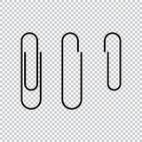 Paper Clip Icon Vector Illustration stock illustration