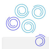 Paper clip illustration in the form of circle. Stock Photo