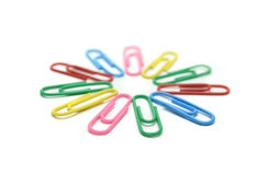 Paper clip isolated Stock Photos