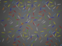 Paper clip isolated. 3d rendering. Beautiful colorful paper clips background image. 3d rendering Royalty Free Stock Photos