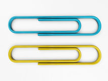 Paper clip isolated. 3d rendering Royalty Free Stock Photography