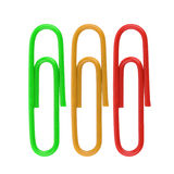 Paper clip isolated on white Royalty Free Stock Photos