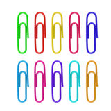 Paper clip isolated on white Stock Images