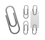 Paper clip isolated on white Stock Photos