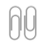 Paper clip isolated on white Stock Image