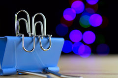 The paper clip, lovers Stock Image