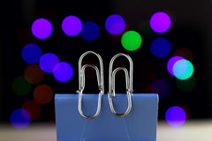 Paper clip, lovers Royalty Free Stock Photography