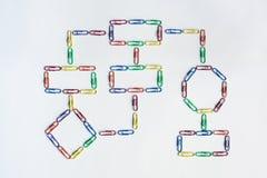 Paper clip organization chart Stock Photos
