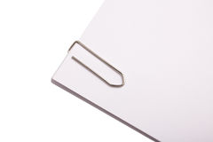 Paper clip on paper Stock Images