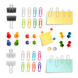 Paper Clip And Pin Set Stock Photography
