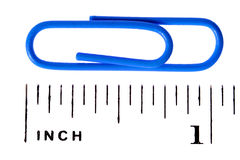 Paper clip scale inch Stock Photos