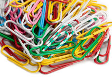 Paper clip set Royalty Free Stock Images