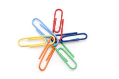 Paper Clip Teamwork Stock Image