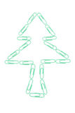 Paper clip tree Royalty Free Stock Photography