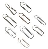 Paper clip variation Stock Photography