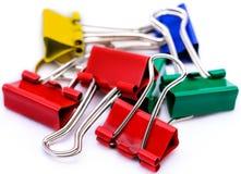 Paper-clip vertical Imagen de archivo libre de regalías