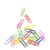 Paper-clip vertical Fotos de Stock Royalty Free
