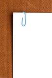 Paper-clip vertical Imágenes de archivo libres de regalías