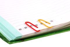 Paper-clip verticale Fotografia Stock